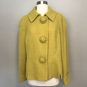 Boden jackets coats the fifites yellow wool jacket sz for Boden yellow coat